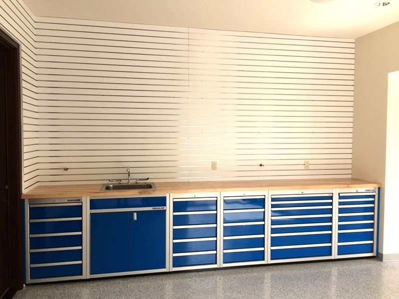 Garage and Workshop Cabinets with Sink