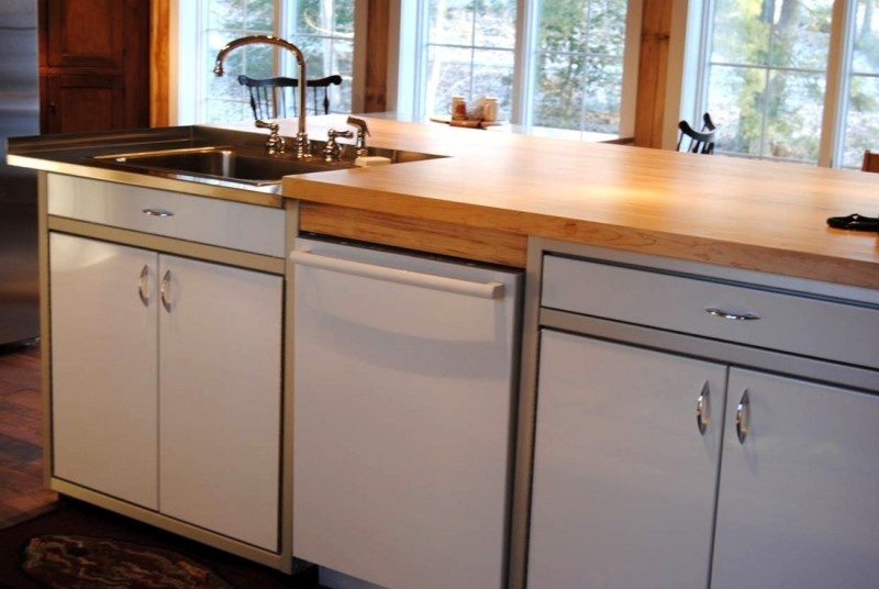 Butcher Block Countertops for Aluminum Cabinet Systems
