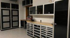 Moduline Black Aluminum Garage Cabinets-Chad
