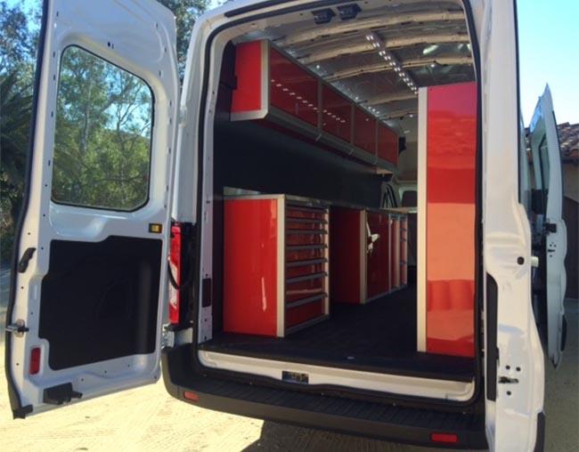 Aluminum Van Upfit Cabinets and Shelving