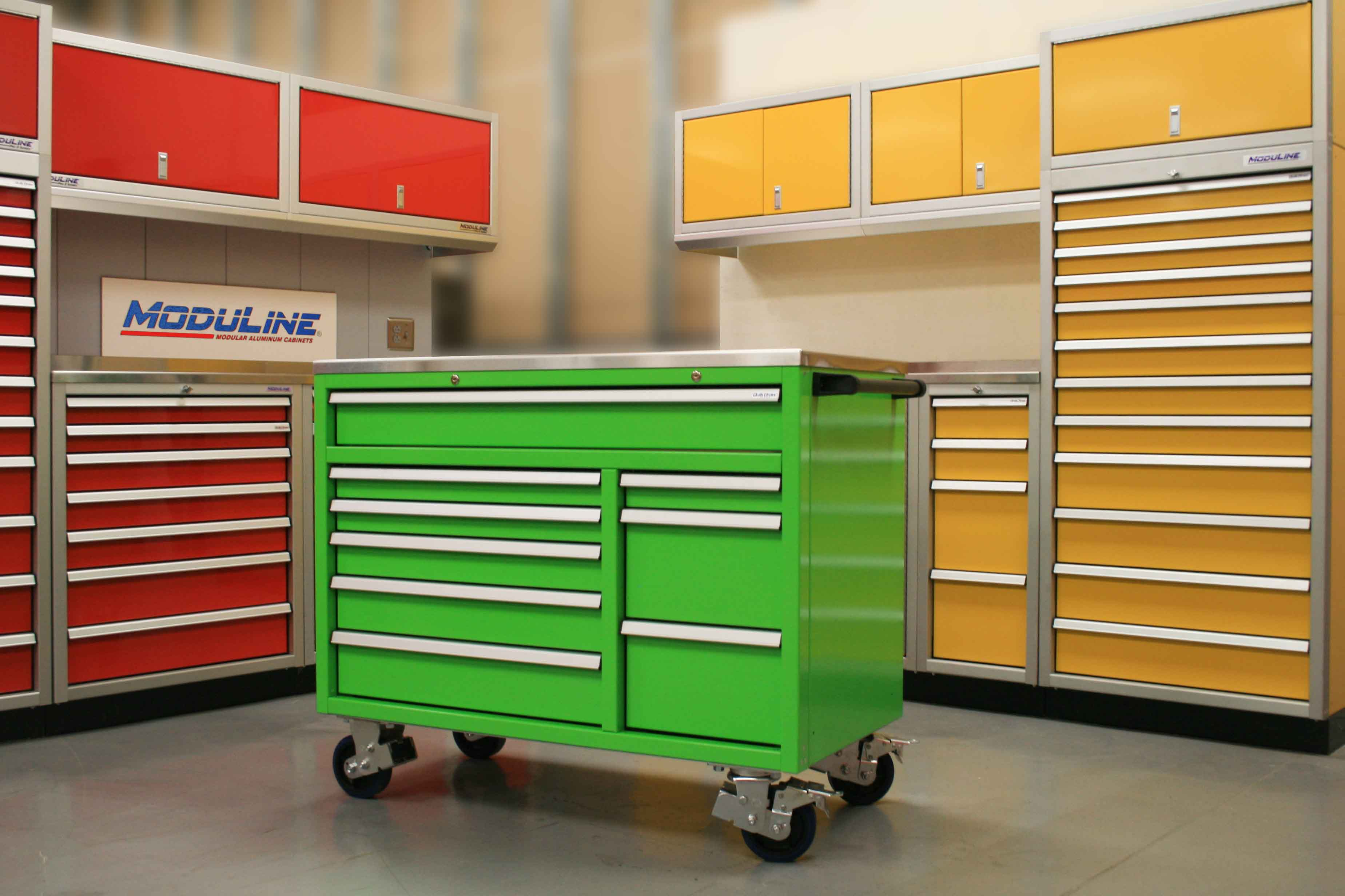 Lime Green QuikDraw® Rolling Toolbox