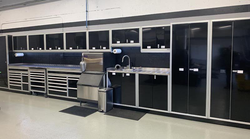 GSA Approved Military-Grade Aluminum Cabinets Garage