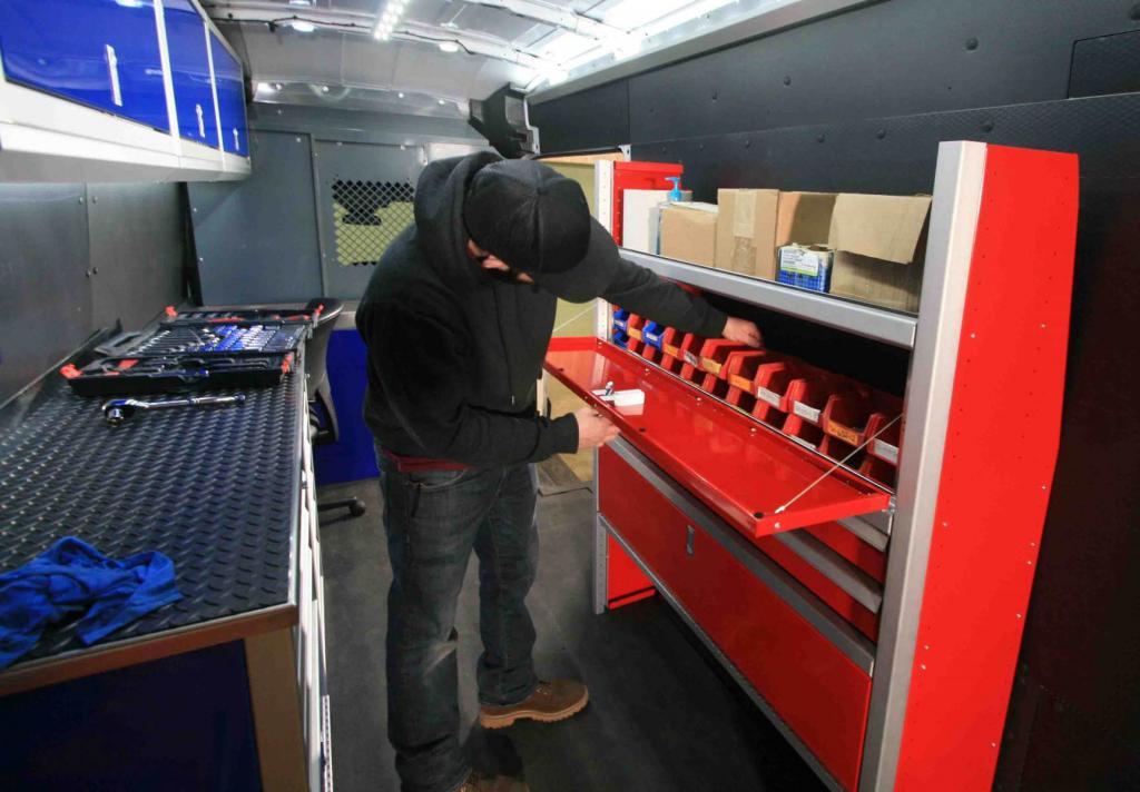 Van Upfit for Work with Workspace