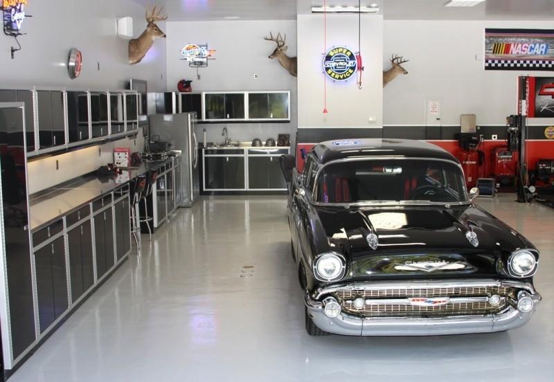 Moduline Black Garage Storage Aluminum Cabinets
