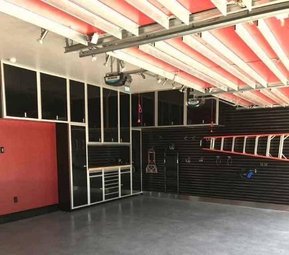 Black Metal Garage Storage Cabinets Overhead & Toolbox
