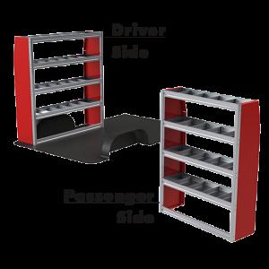 Upfit™ SERIES Aluminum Van Storage Package 60″ Wide (Driver) & 48″ Wide (Passenger) #UP6048-01