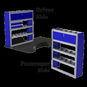 Upfit™ SERIES Aluminum Van Storage Package 60″ Wide (Driver) & 48″ Wide (Passenger) #UP6048-03